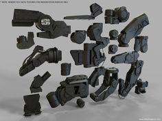 Heavy Joints and Actuators. OBJ, NO UVS, NO TEXTURES — Vitaly Bulgarov