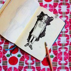 Frock ideas for Fauve.   Eloise Ptito-Echeverria  www.fauve.co Scribble, Wearable Art, Textiles, Illustrations, Fabric, Prints, Ideas, Tejido, Illustration