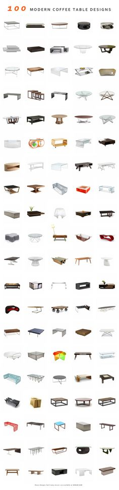 100 Modern coffee tables