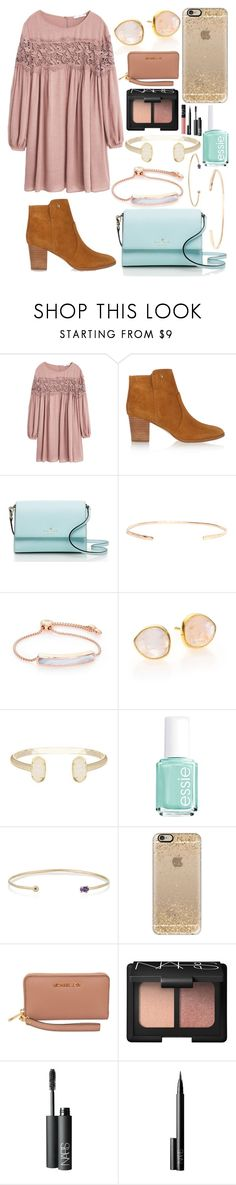 """TYSM FOR 1300 ILY❤️"" by emmacaseyyyy ❤ liked on Polyvore featuring MANGO, Tory Burch, Kate Spade, Melissa Joy Manning, Monica Vinader, Kendra Scott, Essie, Casetify, Michael Kors and NARS Cosmetics"