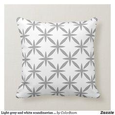Light grey and white scandinavian trellis pattern throw pillow Grey Home Decor, Trellis Pattern, Grey Cushions, Shop Lighting, Custom Pillows, Grey And White, Scandinavian, Art Pieces, Throw Pillows