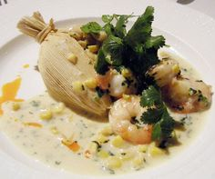 HELLO FALL. Fire Roasted Corn & Garlic Shrimp Tamales