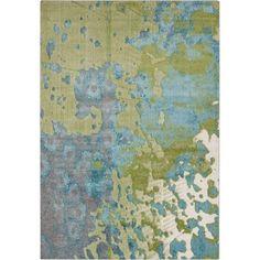 """Surya Aberdine 5'2"""" x 7'6"""" Rug in Blue and Green #Surya"""