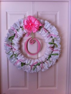 I have had quite a few friends ask me how to make a diaper wreath, so I thought I would do a little how to.      First of all, I have to g...