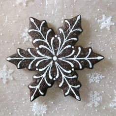 Chocolate Sugar Cookie | Snowflake | By E.J.F.