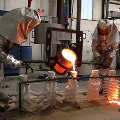 Pouring metal at the SA Baxter Foundry in New York's Hudson Valley