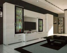 Living Room Partition Design, Living Room Tv Unit Designs, Room Partition Designs, Tv Wall Design, Tv Unit Furniture, Furniture Design, Home Room Design, Home Interior Design, Modern Wall Units
