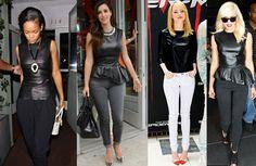 Blusa de Couro Falso (Estilo de Celebridades)  #fashion #compras #estilo #moda #blusa