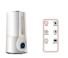 New Digital Humidifier with LED Display Remote Control Ultrasonic Cool with Digital Humidity Mist Control Timing Water Shortage