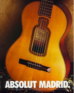 Absolut Cities of Europe Print Ads (1995): Absolut Madrid