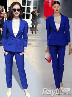 Cheap gucci Blazer+pants suit for women blue Free Shipping! Only $76.6USD Rooftop Party, Cheap Gucci, W Dresses, Suits For Women, Winter Fashion, Suit Jacket, Blazer, Pants, Jackets