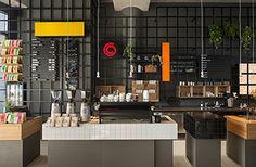 Интерьер кофейни Coffeecompany в Амстердаме