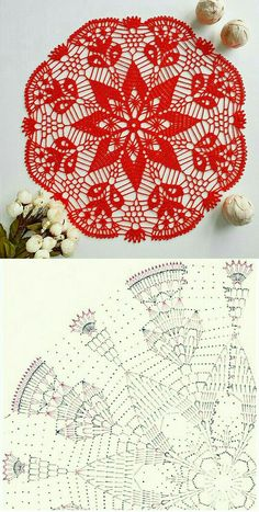 Crochet Table Runner Pattern, Free Crochet Doily Patterns, Crochet Placemats, Crochet Mat, Crochet Doily Diagram, Crochet Dollies, Crochet Circles, Christmas Crochet Patterns, Thread Crochet