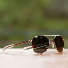 Chrome Aviator Sunglasses by Randolph Engineering