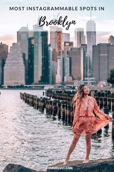 City of dreams 🏙 I'm so happy to finally call NYC home again! I'm originally from LA but moved to NY in 2012 because it was always a dream… Brooklyn Things To Do, York Things To Do, Brooklyn Bridge Park, Brooklyn New York, Manhattan Skyline, New York Skyline, Lower Manhattan, New York City Travel, Dream City