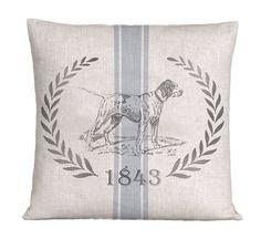 Linen Vintage Grain Sack Style Pillow by ScandinavianElements, $39.00
