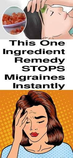 2-INGREDIENT REMEDY TO STOP MIGRAINES AND HEADACHES INSTANTLY!