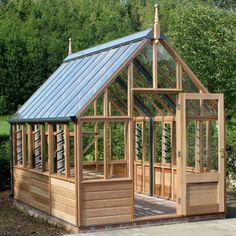 Gabriel Ash Wisley Series Greenhouse - Wood Frame Greenhouses