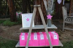Under the Stars Tween / Teen Girl Birthday Party via Karas Party Ideas #star #sparkle #tween #pink #girl #birthday #party #idea (1)