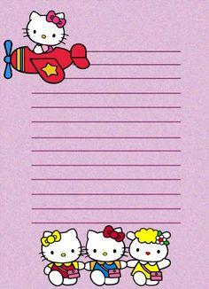 PAPEL DE CARTA 9: Hello Kitty