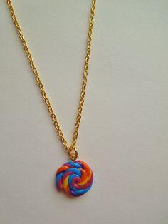 Candy Swirl kids necklace
