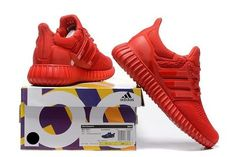 Adidas Yeezy Ultra Boost 350 All Red [adidasyeezy-0369] - $63.99 : | nike and adidas shoes | Scoop.it