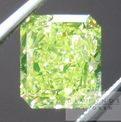 Fancy Vivid 1.92 Carat Green-Yellow Diamond   Radiant Diamond   Cut-Cornered Rectangular Modified Brilliant Shape/Cutting Style