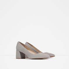 Image 2 of BLOCK HEEL LEATHER SHOES from Zara