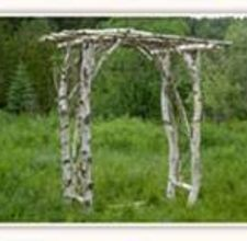 Arbor made with branches.