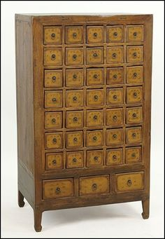 Chinese Red Painted Wood Cabinet : Lot 131-3060 #chinese #red ...