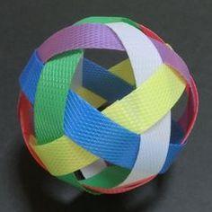 PPバンドのセパタクローボールの作り方…『三すくみ』で説明: 正多面体クラブ