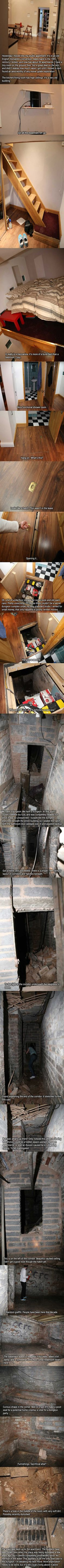 So this guy found a dungeon in his apartment. A real, legit dungeon.