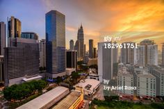 Kuala Lumpur Cityscape During Sunset