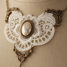 PRETTY PEARLS Victorian romantic lace and by TheVictorianGarden