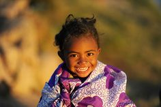 Smiling little girl from Madagascar