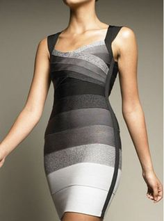 $50.68 Sexy Women's V-Neck Sleeveless Color Block Backless Bodycon Bandage Dress