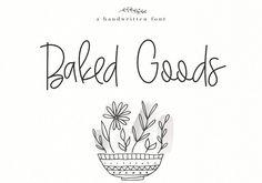 Baked #Goods - #Handwritten #Font - #Script