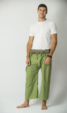Unisex Thai Fisherman Pants in Lime – Harem Pants