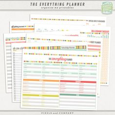 The Everything Planner Printables