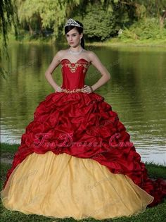 15 dresses red and gold 2016 » MyDresses Reviews 2017