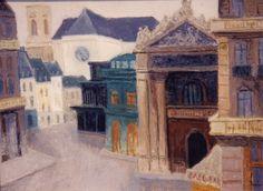Ervin TAMÁS: Paris Street, oil on board 23½ x 31½ in.  #art #artists #painters #contemporary #contemporaryart #modernart #contemporarypaintings #modernpaintings #contemporaryartists #oilpaintings #paris