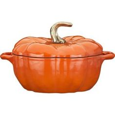 Staub 3.5 Quart Pumpkin Covered Casserole