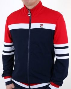 Ingenious Fila Vintage Mk1 Settanta Track Top In Navy Borg Bj 70s 80s Casuals Terrinda Wide Selection;