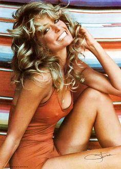 1970s Pin Up Poster Girl Farrah