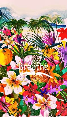 Tropical wallpaper.