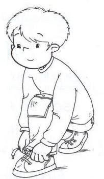 Garçon & le lacet