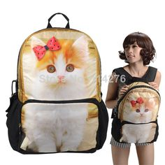 Find More Casual Daypacks Information about Lovely cat  3D animal printing backpack rucksack bag for woman, bag manufacturer from shenzhen, BBP112 BBP112,High Quality bag cube,China bag clutch Suppliers, Cheap bag cap from Trendy World on Aliexpress.com