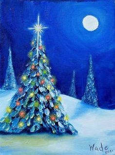 Resultado de imagen para christmas canvas paintings