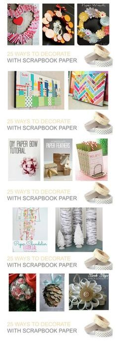 25 Ways to Decorate with Scrapbook Paper - SNAP!