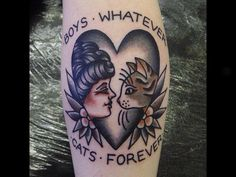 BOYS WHATEVER CATS FOREVER TATTOO - Google Search